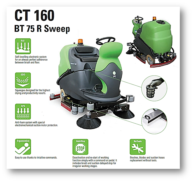 CT160 75R Sweeper Scrubber